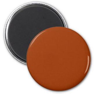 Orange-Red #993300 Solid Color 6 Cm Round Magnet