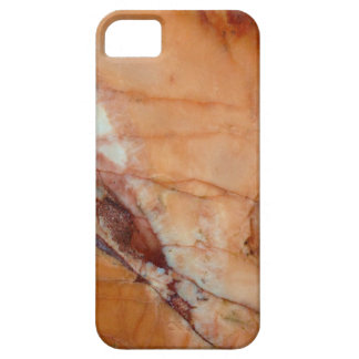Orange Red and White Marble Case For The iPhone 5