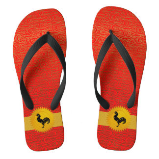 Orange Red Chinese Zodiac Year Of the Rooster Thongs