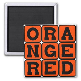 Orange Red Color Magnets