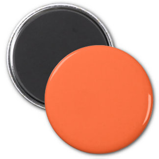Orange-Red #FF6633 Solid Color 6 Cm Round Magnet