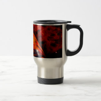 Orange Red Flames Paint Classic Car Bumper Stainless Steel Travel Mug