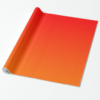 Orange Red Gradient Wrapping Paper