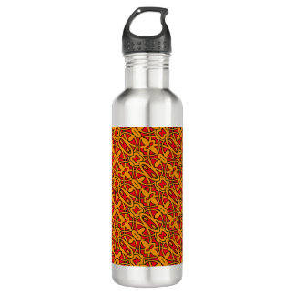 Orange & Red Hand Drawn Pattern 710 Ml Water Bottle
