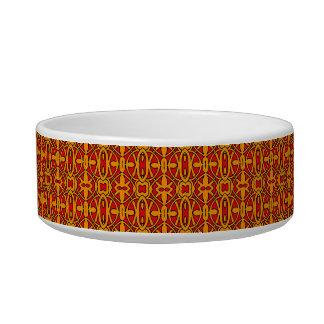 Orange & Red Hand Drawn Pattern Bowl