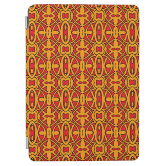 Orange & Red Hand Drawn Pattern iPad Air Cover
