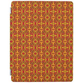 Orange & Red Hand Drawn Pattern iPad Cover