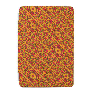 Orange & Red Hand Drawn Pattern iPad Mini Cover