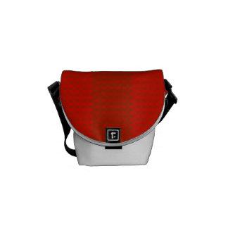 Orange Red Stripes Rickshaw Messenger Bag