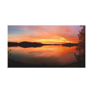 "Orange Reflection     31""x17"" Canvas Print"