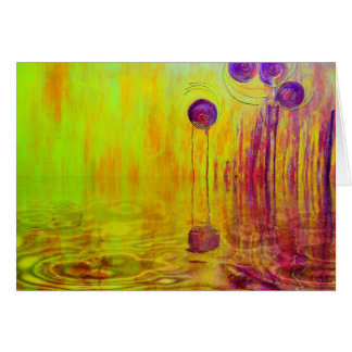 Orange Reflection Orange and Red Abstract Art Card
