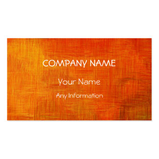 Orange Retro Abstract Painting 13 Pack Of Standard Business Cards