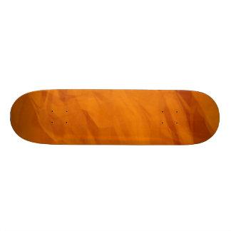 Orange Retro Crumpled Paper Skate Deck