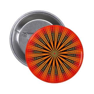 Orange Retro Disk 6 Cm Round Badge