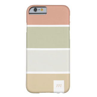 Orange retro green lines palette minimal chic marr barely there iPhone 6 case