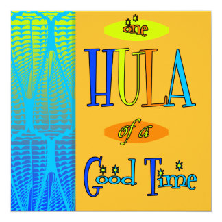 Orange Retro Luau Hula of a Good Time Invitations