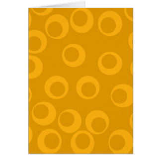 Orange retro pattern greeting cards