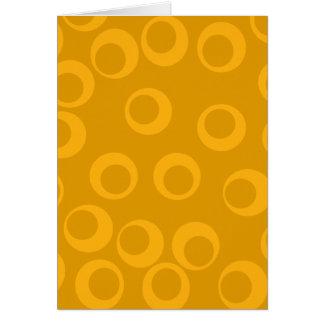 Orange retro pattern. note card