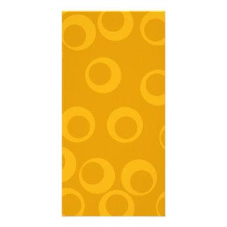 Orange retro pattern. photo card template
