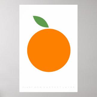 Orange Retro Poster 60's 70's Quote