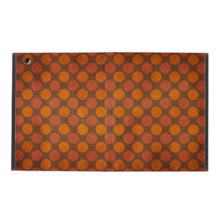 Orange retro vintage circles pattern iPad case