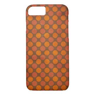 Orange retro vintage circles pattern iPhone 7 case