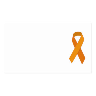 ORANGE RIBBON CAUSES ANIMALS MOTIVATIONAL SUPPORT BUSINESS CARD TEMPLATES