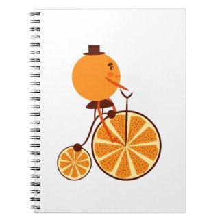 Orange ride spiral notebook