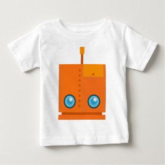 Orange Robot Baby T-Shirt