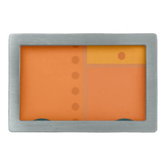 Orange Robot Belt Buckles