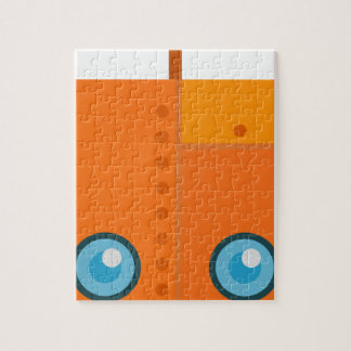 Orange Robot Jigsaw Puzzle