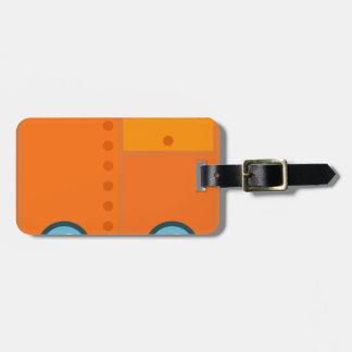 Orange Robot Luggage Tag