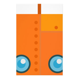Orange Robot Stationery