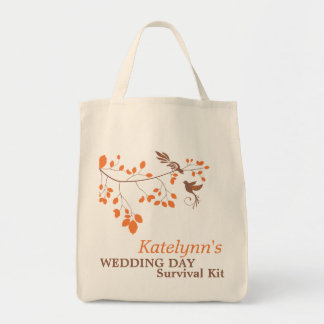 Orange Romance Wedding Day Survival Kit Bag