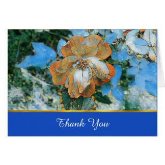 Orange Rose Bereavement Thank You Card