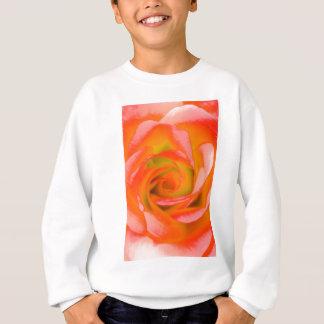 Orange Rose Close-up Sweatshirt