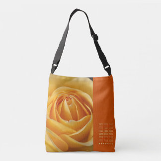 Orange Rose Design Cross Over Body Bag Delight