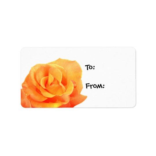 Orange Rose Gift Tags