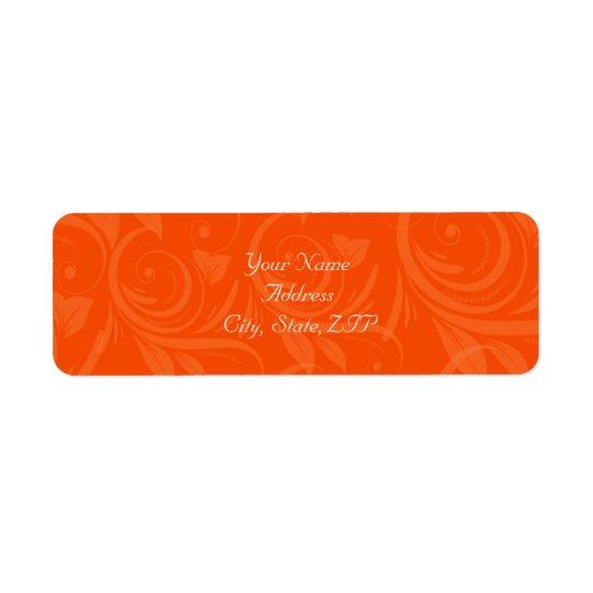 Orange Rose Graphic Wedding Return Address Label