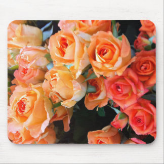 Orange Rose mouse propellant-actuated device Mouse Pad