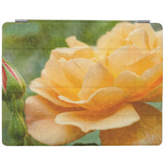 Orange Rose Painterly iPad Cover