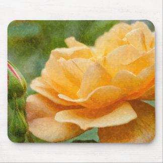 Orange Rose Painterly Mouse Pad