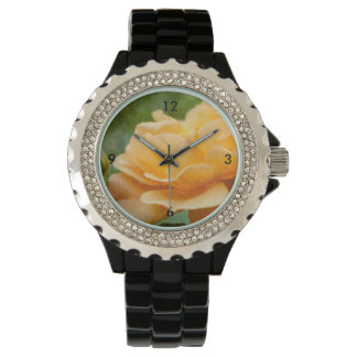 Orange Rose Painterly Watch
