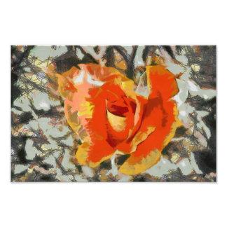 Orange rose painting photo art