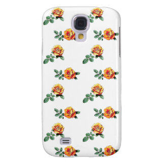 orange rose pattern galaxy s4 cases