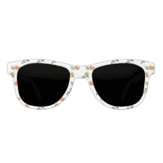 orange rose pattern sunglasses