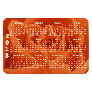 Orange Rose Petals 2018 Calendar Magnet