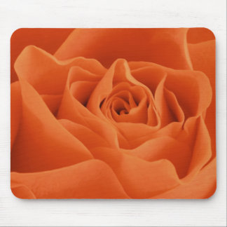 Orange Rose Petals Mouse Pad