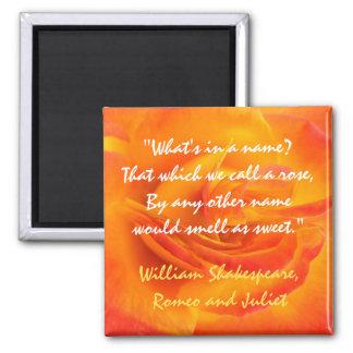 Orange Rose Quote Magnet