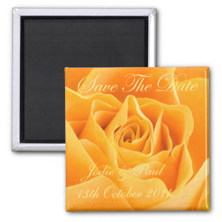 Orange Rose - Save The Date - Wedding - Engagement Magnet